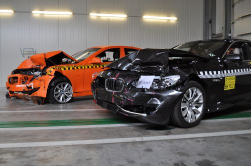 Euro NCAP crash test: 5 stars for the new BMW 5 Series.
