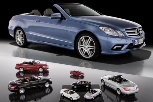 Mercedes-Benz E-Class Cabriolet miniatures available from authorised Mercedes dealers