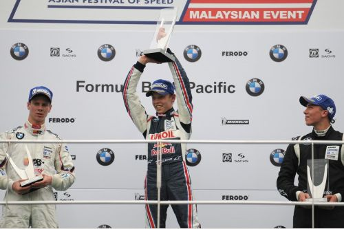 Kvyat takes maiden single seater victory in Malaysia.
