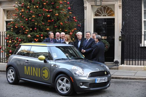 Prime Minister Gordon Brown welcomes ministerial MINI E