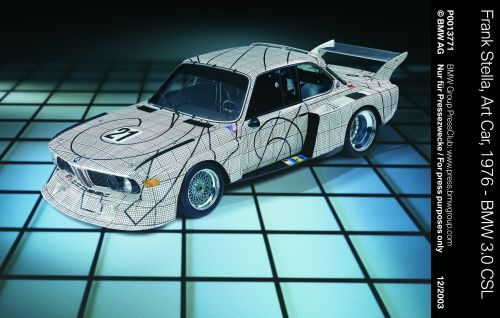 Premiere der BMW Art Car World Tour in den USA. BMW Pop Art Cars