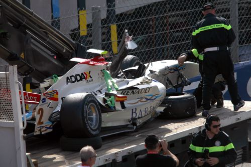 Another two points for Vitaly Petrov, Romain Grosjean in spectuclar crash