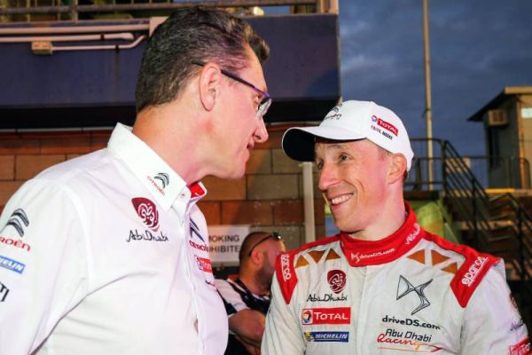 Kris Meeke in the mix at the finish of day 2 in Australia Rally