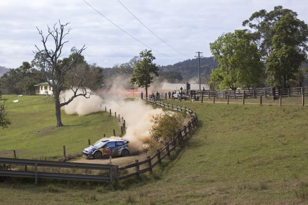 Latvala leads, with Ogier and Mikkelsen on course for the podium in Australia
