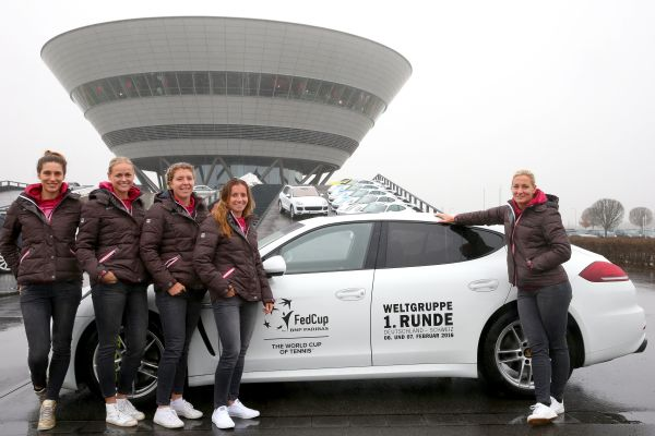 Germany's tennis women guests of Porsche in Leipzig