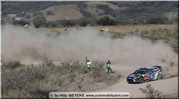 Latvala takes advantage of his favourable road position to lead in Mexico