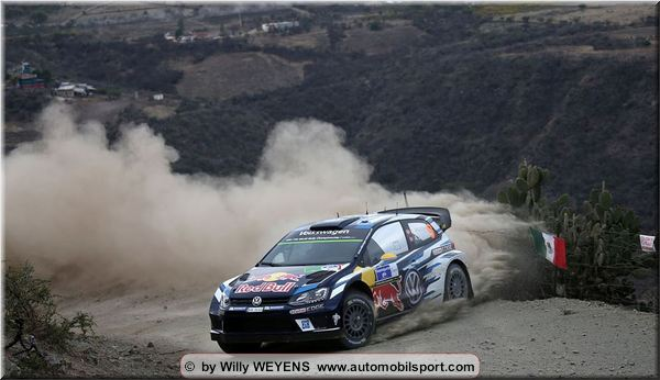 Volkswagen drivers lead the way on the Mexican gravel in the Shakedown