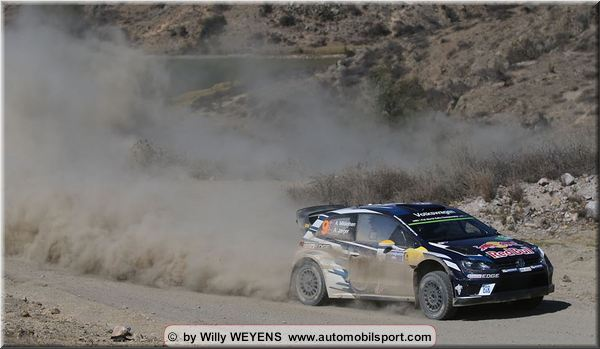 Stage 15 top 10 in Mexico Rally