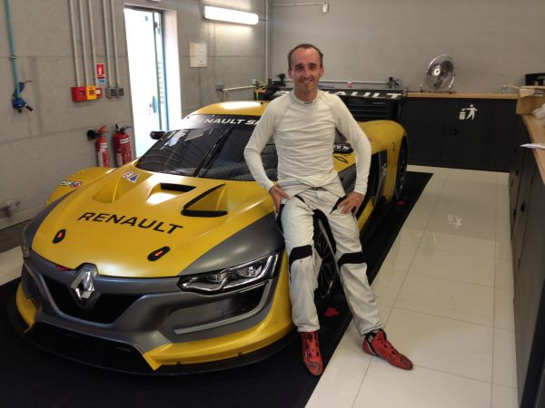 Robert Kubica behind the wheel of a Renault Sport R.S. 01 at Spa next weekend