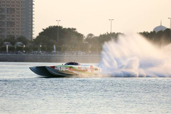 UIM Class 1 Powerboat Abu Dhabi Tuesday results and timetable