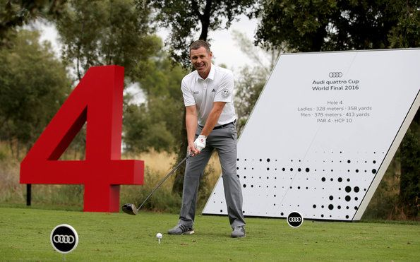 Tom Kristensen at World Final of the Audi quattro Cup