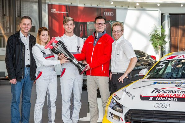 Apprentices create trophy for Audi Sport TT Cup
