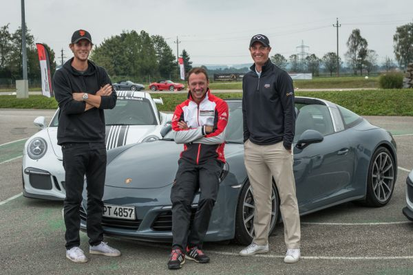 Ahead of the start of the Porsche European Open
