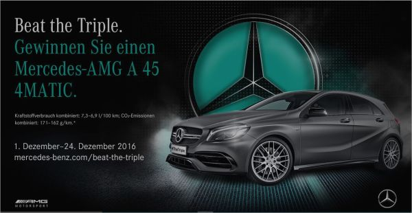 Mercedes AMG Online-Game: 'Beat the Triple'