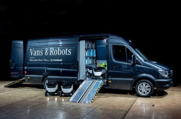 Mercedes-Benz Vans invests in Starship Technologies