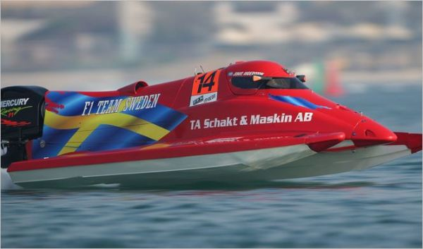 Sweden's Jonas Andersson on F1H2O pole in Abu Dhabi