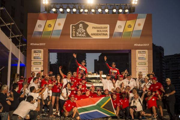 Toyota's Roma, de Villiers and Rautenbach confirm 4, 5 and 9 in Dakar Rally