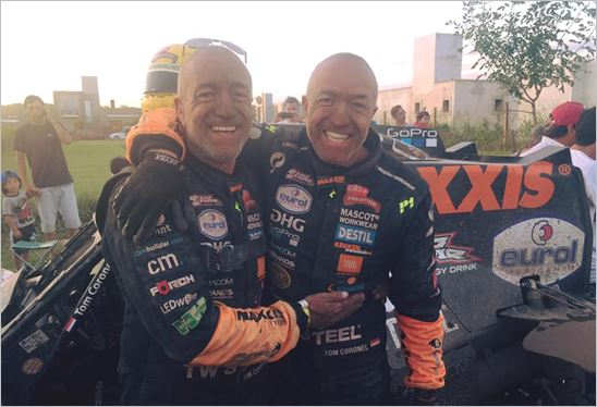 A long travel day for Tim and Tom Coronel