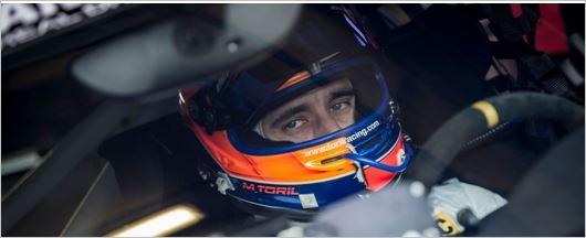 Miguel Toril on board a Porsche for Dubai 24h race
