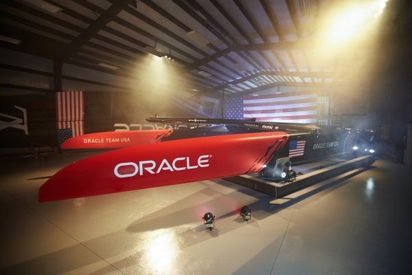 "ORACLE TEAM USA reveals America's Cup yacht ""17""."
