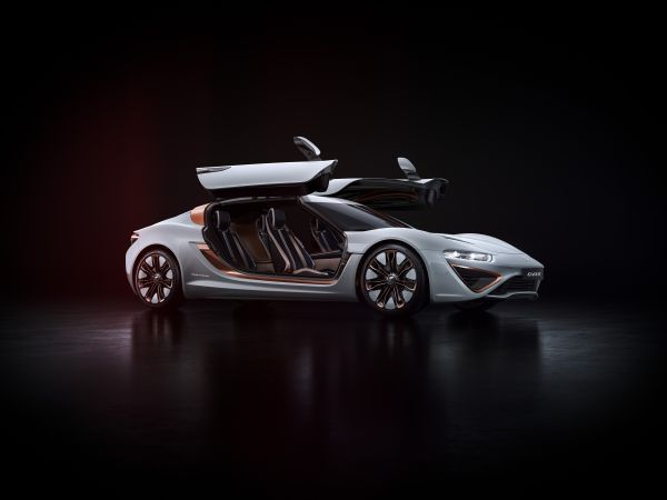 World premiere of nanoFlowcell's new sports car QUANT 48VOLT at the GIMS 2017