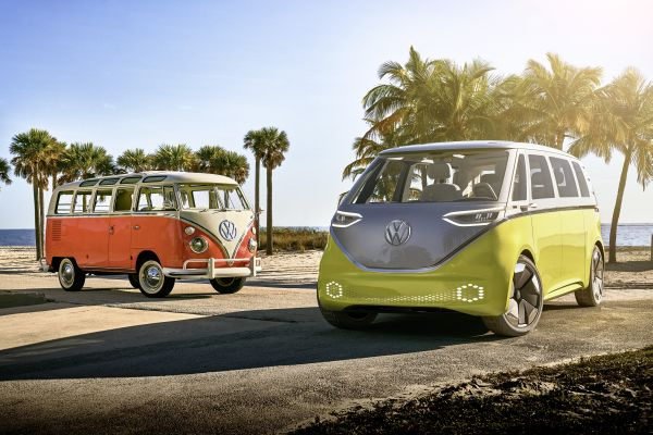 European premiere of the Volkswagen I.D. Buzz1 at the Geneva International Motor Show