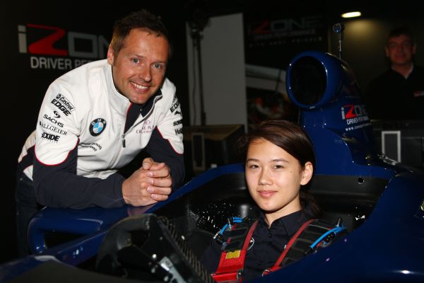 BMW DTM driver Andy Priaulx drops in on simulator training in Silverstone