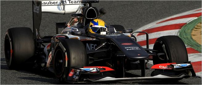 Sauber F1 Team Test in Barcelona  Day One