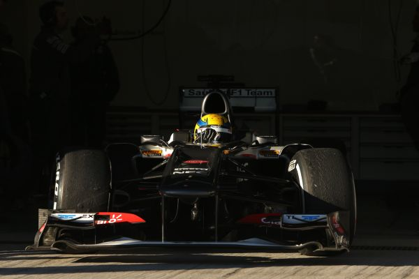 Sauber F1 Team Barcelona test day 1