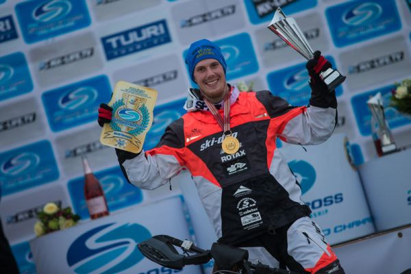 Adam Renheim claims his maiden FIM Snowcross World Title in Tuuri