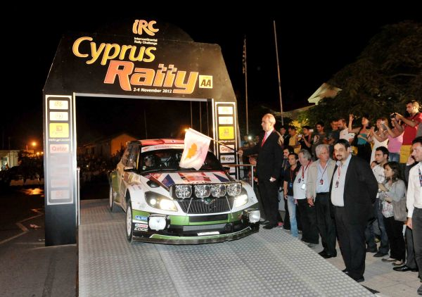 Andreas Mikkelsen makes flying start to Cyprus Rally