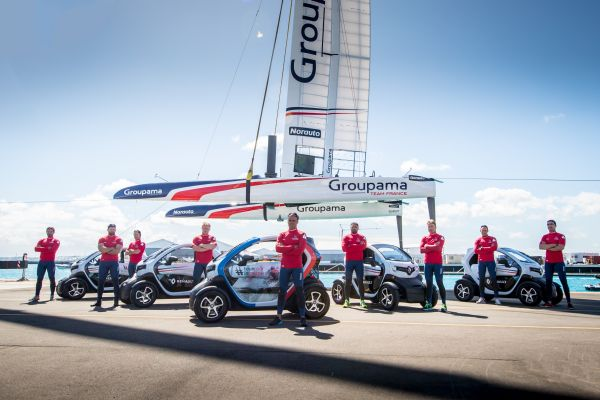 Renault delivers 10 Twizy to America's Cup challenger Groupama Team France