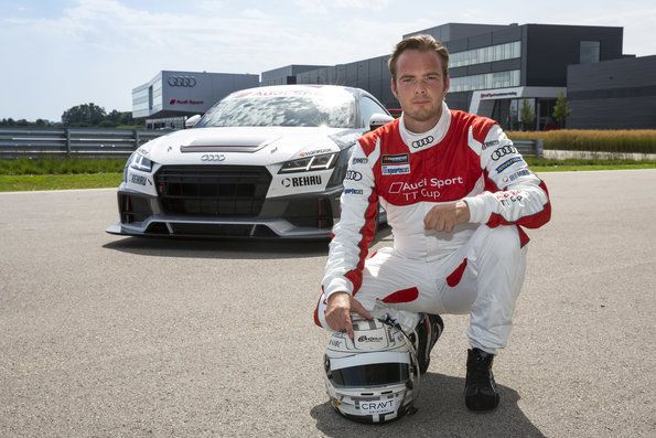Audi Sport TT Cup with prominent guests at Zandvoort
