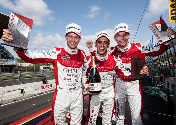 Philip Ellis and Mikel Azcona share the spoils in Zandvoort in the Audi Sport TT Cup
