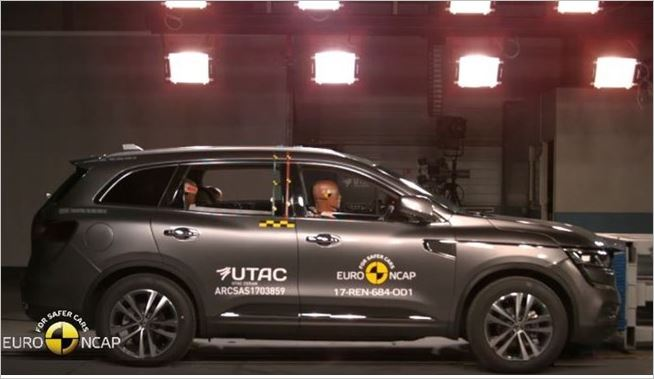 Five star Euro NCAP rating for new Renault Koleos