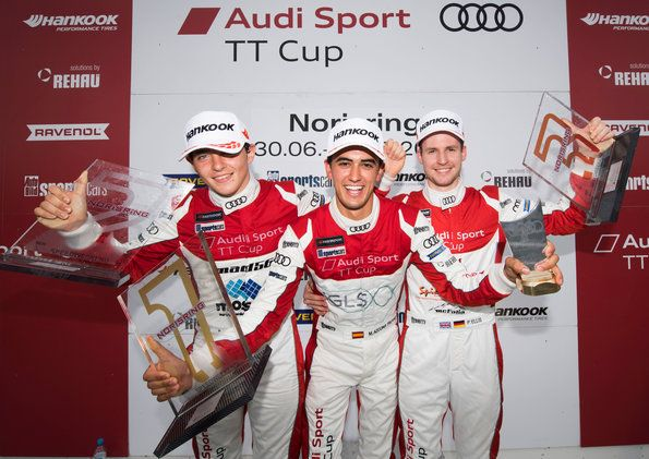 Mikel Azcona second on the table after two wins in the Audi Sport TT Cup