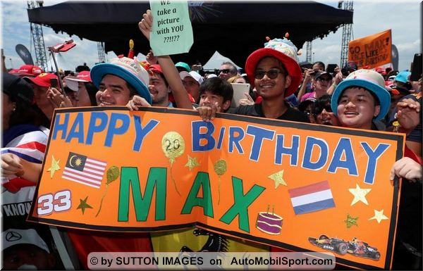 Max Verstappen's 20 birthday with third in Malaysian qualifying