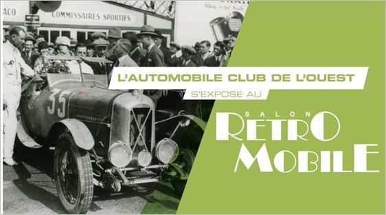the automobile club de l ouest at r tromobile paris. Black Bedroom Furniture Sets. Home Design Ideas