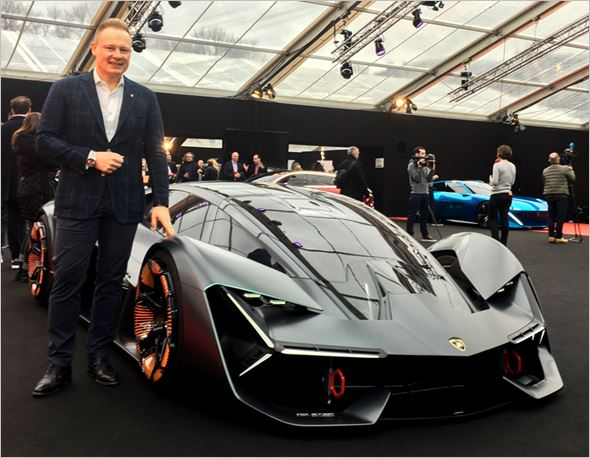 The Lamborghini Terzo Millennio At Festival Automobile International Of Paris