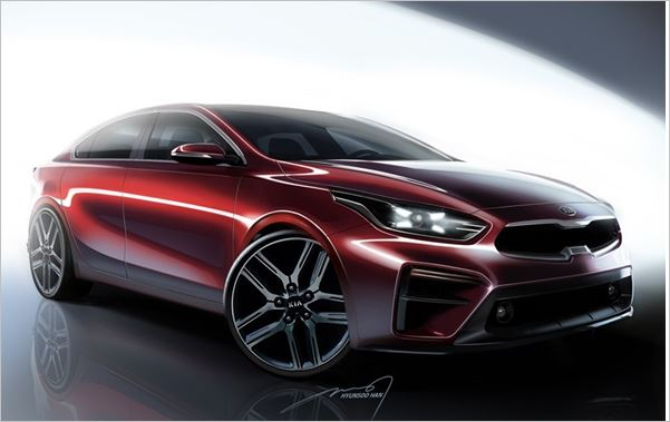 Kia Motors Releases Renderings of All-New 2019 Forte Sedan
