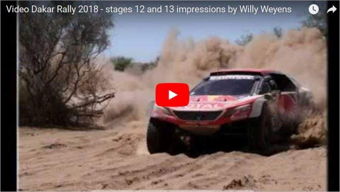 Video Dakar Rally 2018 stages 12 and 13 photos by Willy Weyens