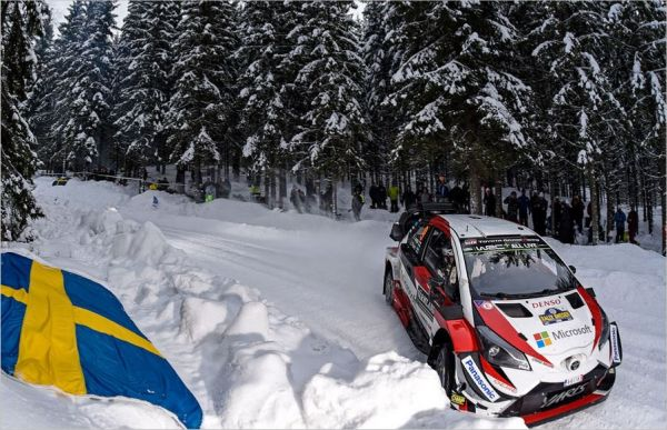 The Toyota Yaris WRC shows its potential on Swedish snow