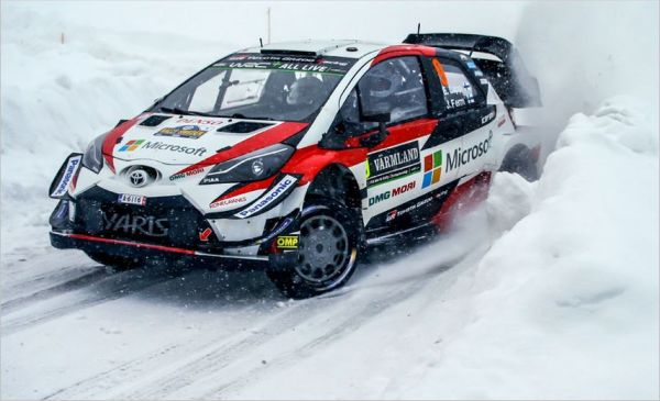 The Toyota Yaris WRC finishes with a flourish in Sweden