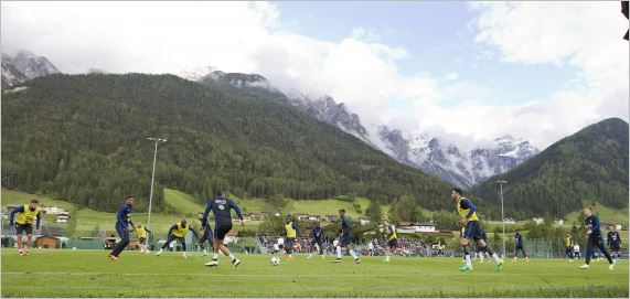 Russland team training in the Stubai Valley for World Cup