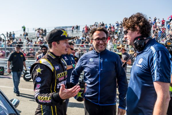 US star Tanner Foust supports the Volkswagen team