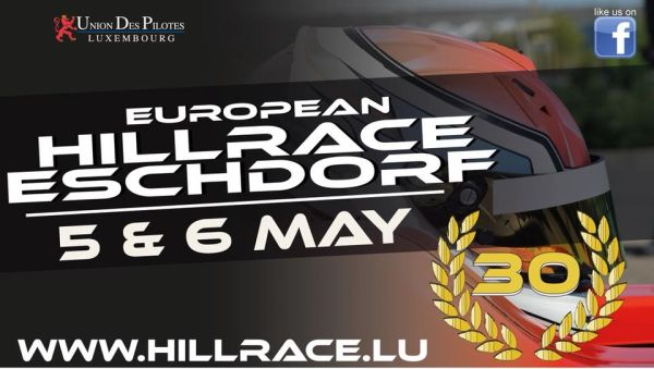 30. Bergrennen « European Hill Race » am 5./6. Mai in Eschdorf/ Luxemburg