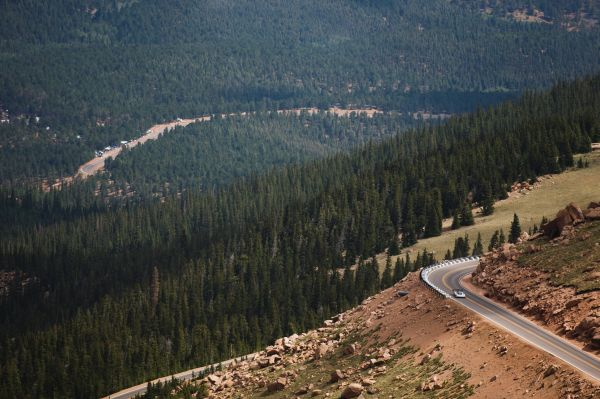 Video: Helicopter footage of the I.D. R Pikes Peak's record-breaking run