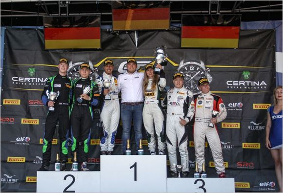 Phoenix Racing Audi wins GT4 home race at the Nürburgring