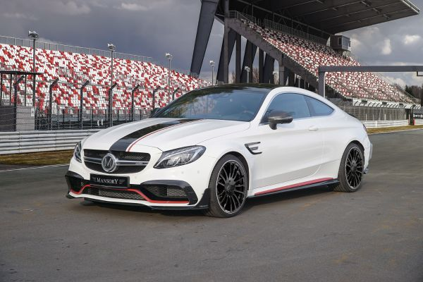 Exclusive Mansory body and accessory program for the face lifted Mercedes AMG C63.