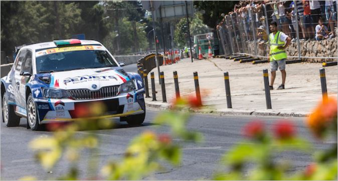Nicosia street stage for ERC counter in Cyprus